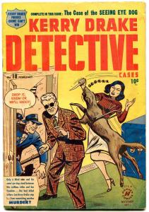Kerry Drake Detective #18 1949- Golden Age crime comic VG