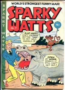 Sparky Watts #7 1948Boody Rogers art- surreal art-hidden classic-VG