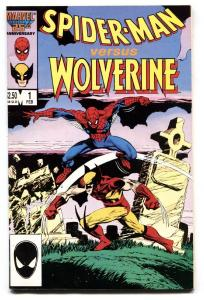 Spider-Man versus Wolverine #1 comic book 1987 Marvel Cross-over  vf-