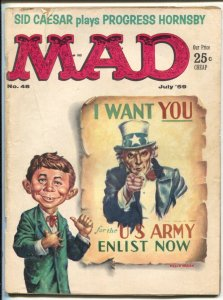 Mad  #48 1959-EC--I Want You cover-Alfred E. NewmanVG-Art by Kelly Freas-Do...