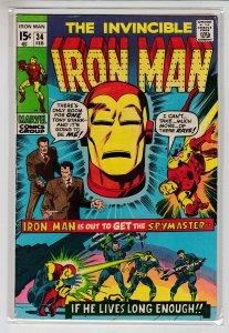IRON MAN (1968 MARVEL) #34 VG+ A08351