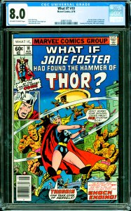 What If? #10 CGC Graded 8.0 1st Jane Foster as Thor (out of Marvel Comics con...