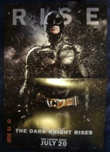 DARK KNIGHT RISES Promo Poster, 11.5 x 17, DC  Unused more in our store 497