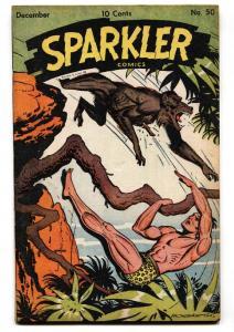 Sparkler #50 1945-United Feature-Tarzan-Burne Hogarth-VF