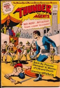 THUNDER Agents #18 1968-Tower Comics-Dynamo & Menther-Ditko-Wood-FN-