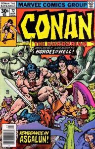 Conan the Barbarian (1970 series) #72, VF- (Stock photo)