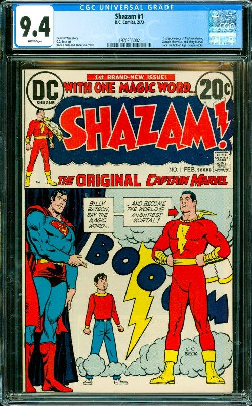 Shazam #1 CGC Graded 9.4 1st appearance of Captain Marvel, Captain Marvel Jr....