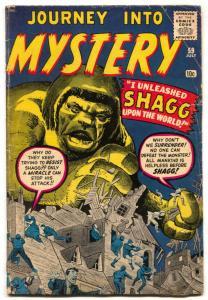 Journey Into Mystery #59 1960-KIRBY & DITKO-Pre hero marvel