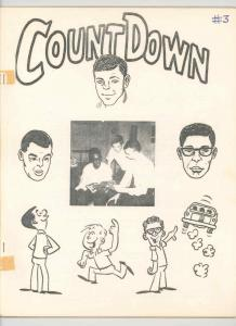 COUNT DOWN #3 PHOTO COVER -ORIGINAL .1964. DITTO FANZINE  - RONN FOSS -NICE VG