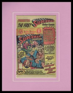Superman 1977 DC Dollar Comics Framed 11x14 ORIGINAL Vintage Advertisement
