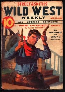 WILD WEST WEEKLY-8/14/1937-PULP-TOMMY ROCKFORD-RISKY MCKEE G