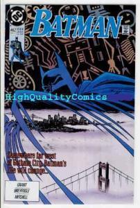 BATMAN #462, NM+, Alan Grant, 1991,California, Gotham City, more DC in store