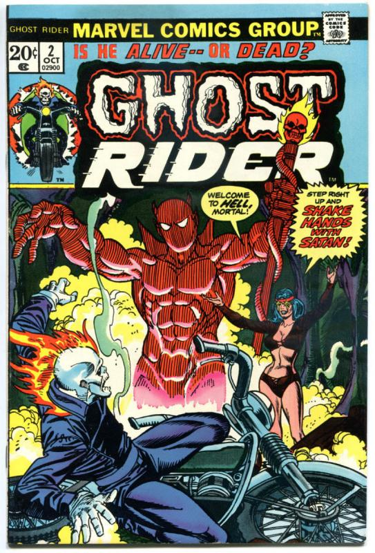 GHOST RIDER #2, VF-, 1st full Daimon Hellstrom, Mooney, 1973, more GR in store