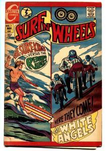 Surf n' Wheels #1 1969-Charlton-surfing-motorcycle gang-VG