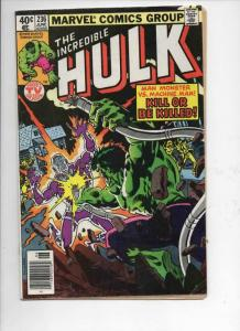 HULK #236, VG+, Incredible, Bruce Banner, Machine Man, 1968 1979, Marvel