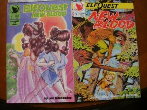 4 Near-Mint Warp ELFQUEST Comic NEW BLOOD #2 #3 #4 #5 (1992) Blair Murphy Abrams
