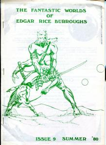 Fantastic Worlds of Edgar Rice Burroughs #9 1980-British fanzine-FN