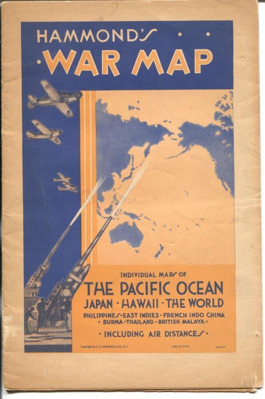Hammond's War Maps-1940's-WWII era-Japan-Phillippines