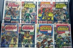 CAPT. SAVAGE & HIS LEATHERNECK RAIDERS 8 ISSUE SET! G/VG! #1-3,6,10,15-17 Marvel