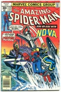 Amazing Spider-Man #171 1977- Photon- Nova- VG/FN