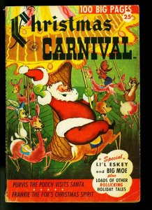 Christmas Carnival #1 1952- Santa Claus cover - Ziff-Davis Giant issue- VG