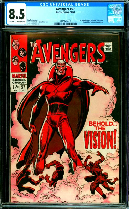 Avengers #57 CGC Graded 8.5 1st Silver Age Vision