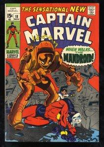 Captain Marvel #18 FN/VF 7.0 Carol Danvers gets her Powers!