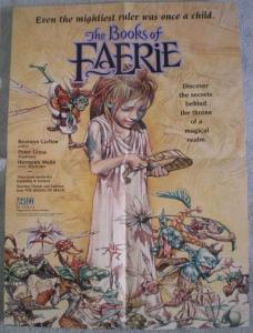 BOOKS of FAERIE Promo poster, Vertigo, 1996,  Unused, more in our store