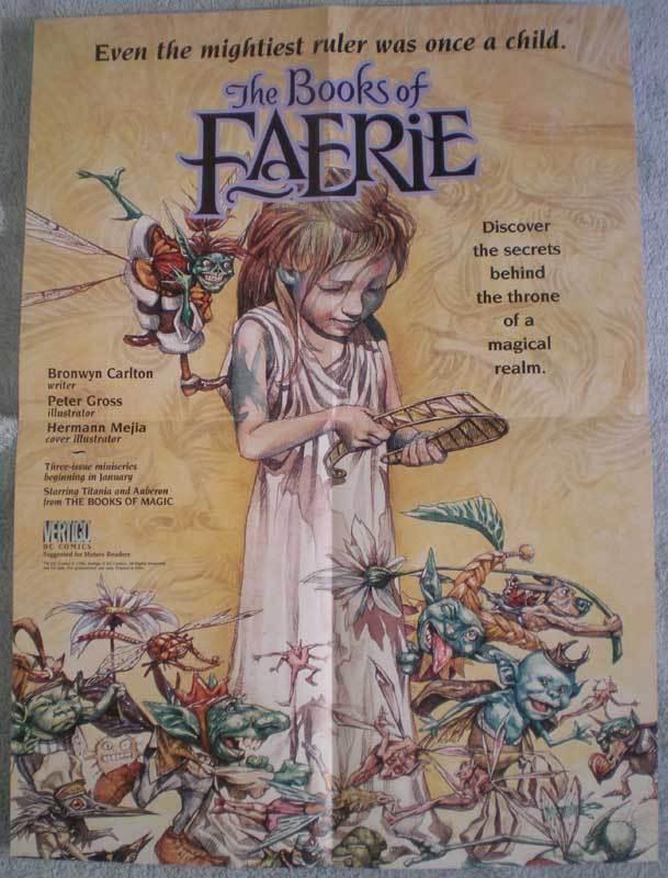 BOOKS of FAERIE Promo poster, Vertigo, 1996,  Unused, more in our store