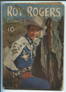ROY ROGERS FOUR COLOR #38 1944-DELL-1ST PHOTO COVER-1ST ROY ROGERS-RARE-good+