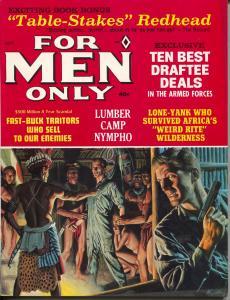 For Men Only 9/1966-Atlas-Mort Kunstler-cheesecake-Copeland-Pollen-VF+