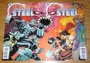 Convergence Superman: Man Of Steel #1-2 VF/NM complete series - gen 13 set lot