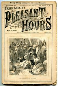 Pleasant Hours Pulp November 1882- Brixley's Claim- Asian Man cover vg