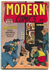 Modern Comics #80 1948- Blackhawk- Torchy -missing page incomplete