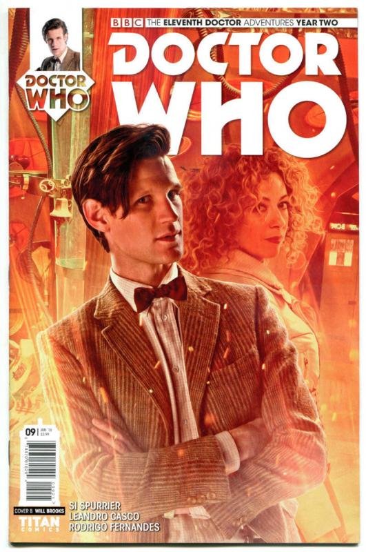 DOCTOR WHO #9 B, NM, 11th, Tardis, 2015, Titan, 1st, more DW in store, Sci-fi