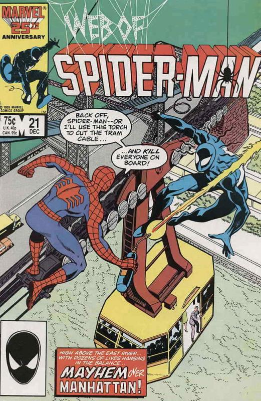 Web of Spider-Man, The #21 VF; Marvel | save on shipping - details inside