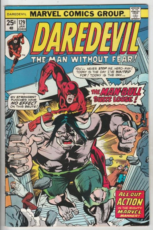 Daredevil #129 (Jan-76) VF/NM+ High-Grade Daredevil