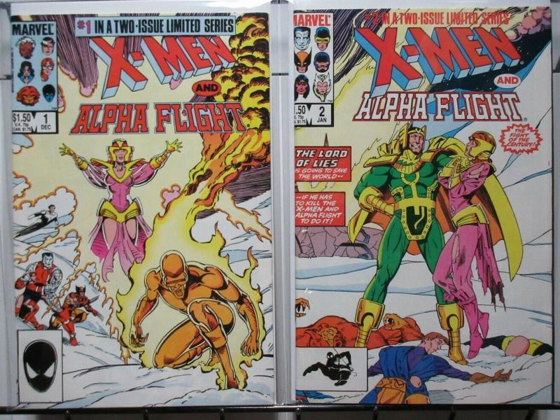 X MEN & ALPHA FLIGHT (1985) 1-2 Claremont & Paul Smith