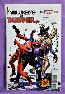 Fabian Nicieza HAWKEYE vs DEADPOOL #1 DF Variant Signed 7/198 (Marvel, 2014)!