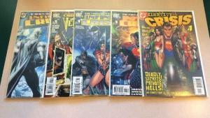 DC Crisis 5 Book Near Mint Lot Set Run Infinite Identity