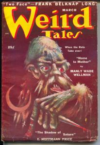 Weird Tales 3/1950-Lee Brown Coye-Day Keene-Manly wade Wellman-FN-