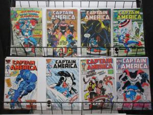 Captain America #262-348 Lot of 8Diff Marvel Bronze to Copper Age Flag Smasher