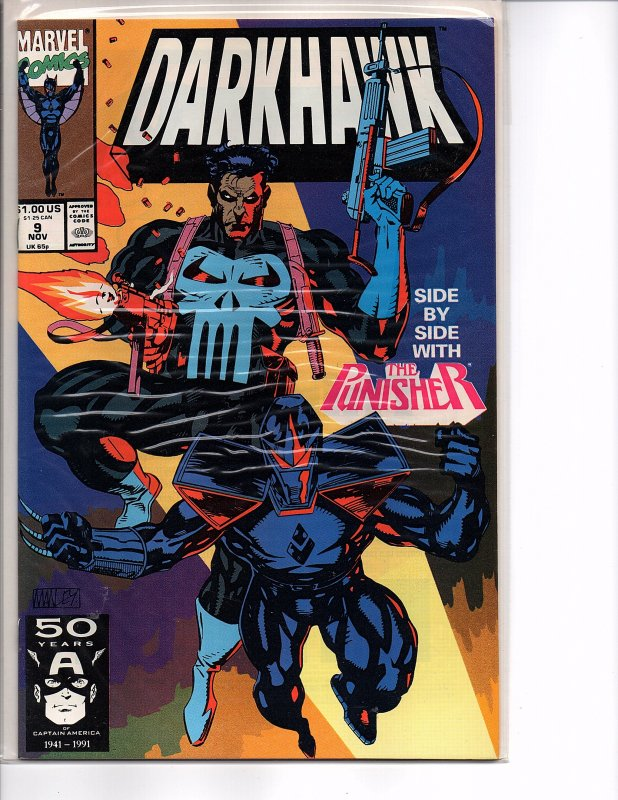 Marvel Comics Darkhawk #9 The Punisher NM