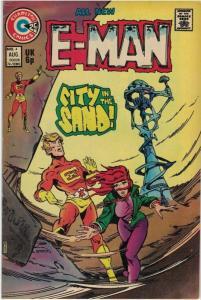E MAN (1973 CHARLTON)   4 VG August 1974