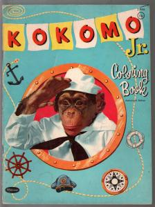 Kokomo Jr. Coloring Book #2946-1959-Whitman-Mel Crawford monkey art-TV-G/VG