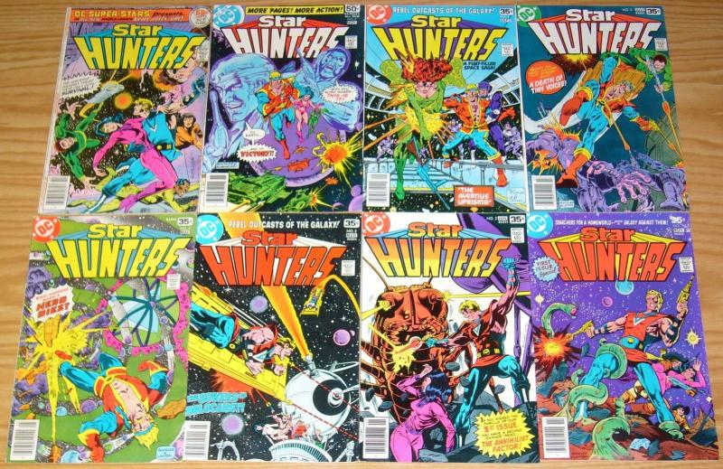 Star Hunters #1-7 FN/VF complete series + dc super-stars 16 (1st appear.) sci fi