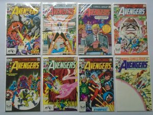Avengers comic lot 23 different from #226-250 8.0 VF (1982-84 1st Series)