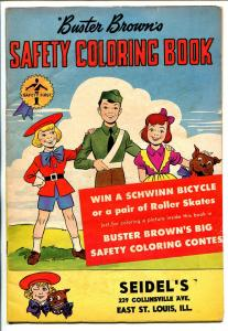 Buster Brown's Safety Coloring Book 1958-one shot issue-comic book format-VG