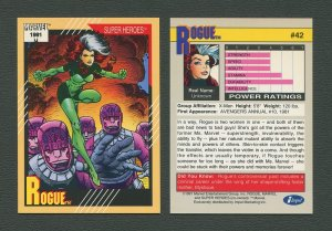 1991 Marvel Comics II  Card  #42 ( Rogue)  MINT