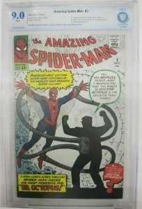 1963 Amazing Spider-Man #3 CBCS 9.0 (VF/NM) 1st Appearance of Dr. Octopus